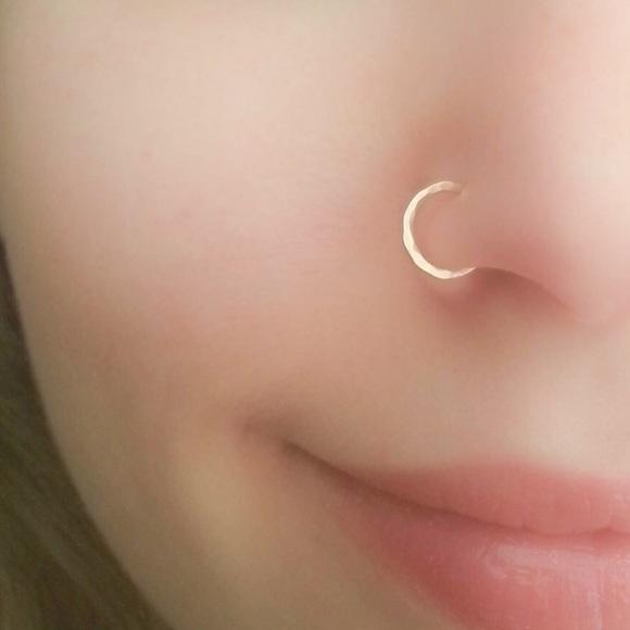 Nejd Jewelry 18g 8mm Gold Nose Hoop Poshmark